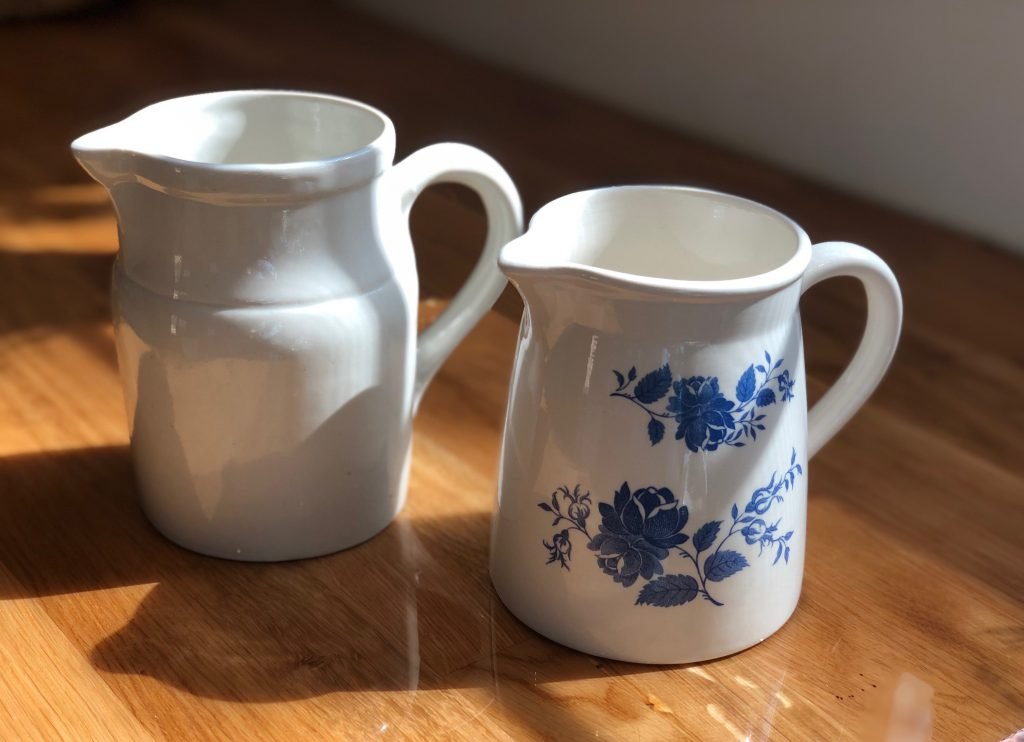 Vintage pitchers, thrifted antiques,