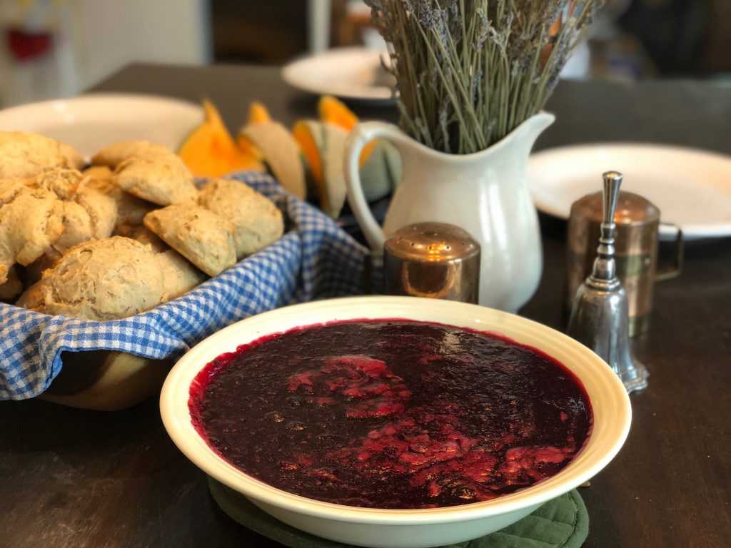 Easy mixed berry compote
