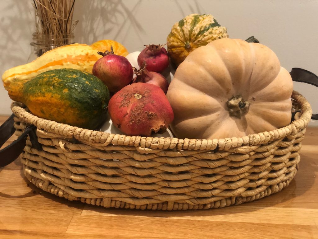 Fall basket, thrifting