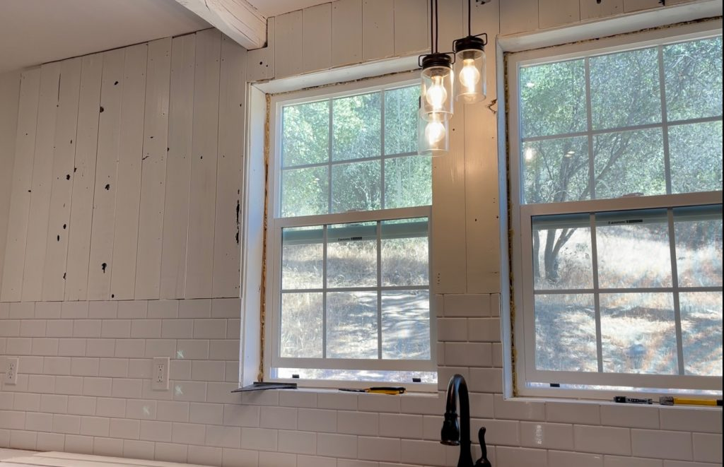 shiplap and subway tile, reclaimed wood project