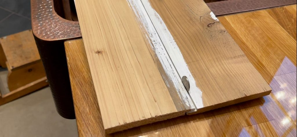 Nickel spacer for shiplap, reclaimed wood fencing for shiplap